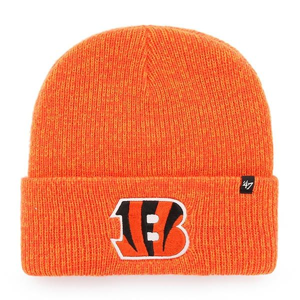 new concept 1deaf e91d8 Cincinnati Bengals 47 Brand Orange Brain Freeze Cuff Knit Hat