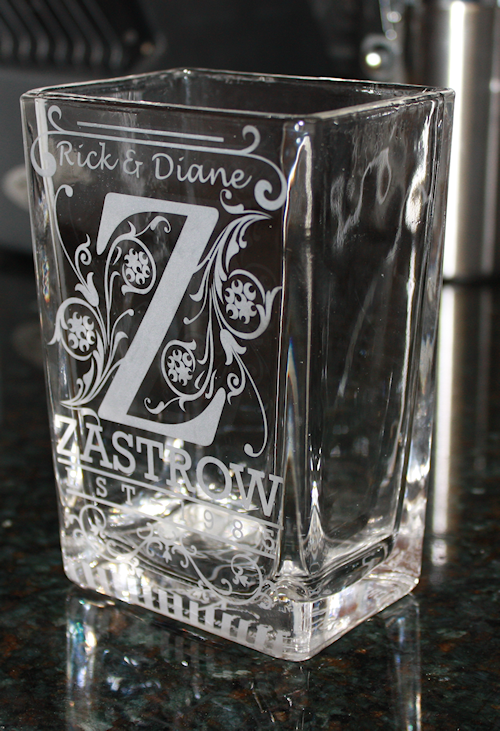 Stencil For Glass Etching Craft Ideas Glass Etching
