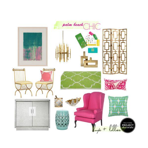 Interior Design Colleges In Florida: Palm Beach Chic. Bright Interior Colors. Modern-beach