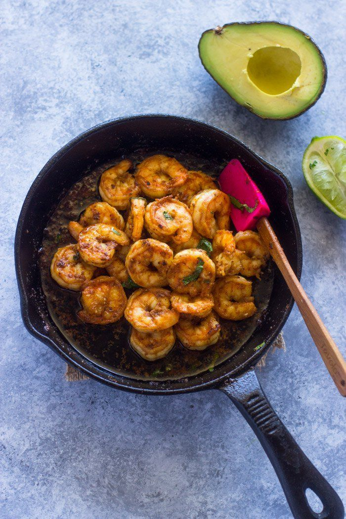 Spicy Pan Seared Shrimp Marinated In Spicy Sauce Is Ready