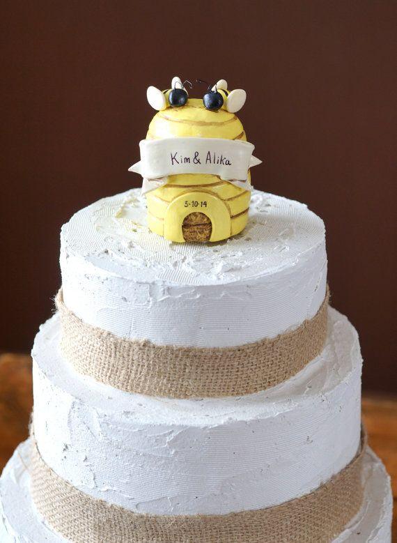 Sweet Honey Bee Wedding Cake Topper For Your By Indigotwinweddings