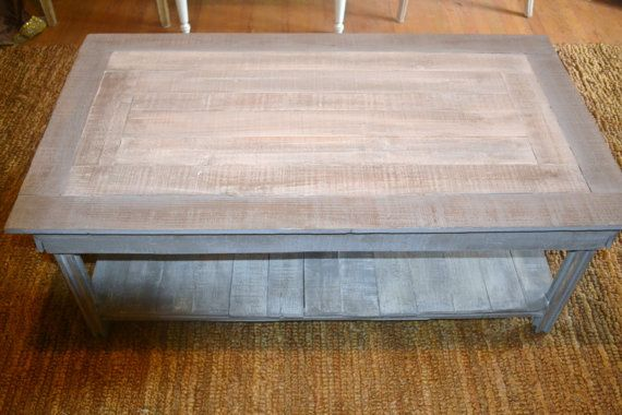 Shabby chic coffee table made from reclaimed cedar by urbaneliving, $425.00