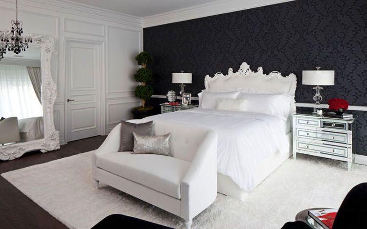 Camere Da Letto Moderne Bianche E Nere.50 Eleganti Camere Da Letto In Bianco E Nero Con Immagini