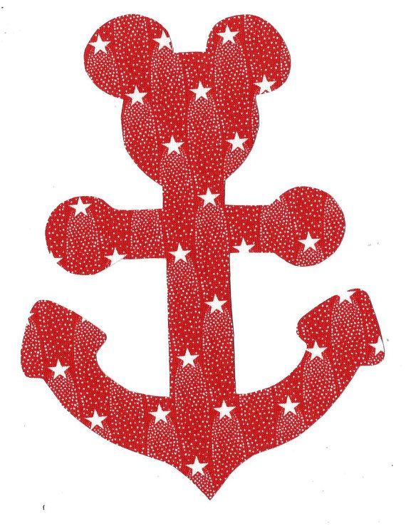 Minnie Mickey Mouse Anchor Iron On Applique Diy By