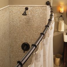 Curved Shower Rod Shower Rod Bathtub Shower