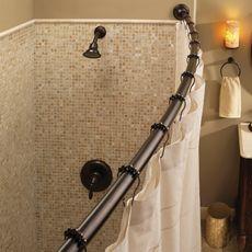 Curved Shower Rod Shower Rod Bathtub Shower