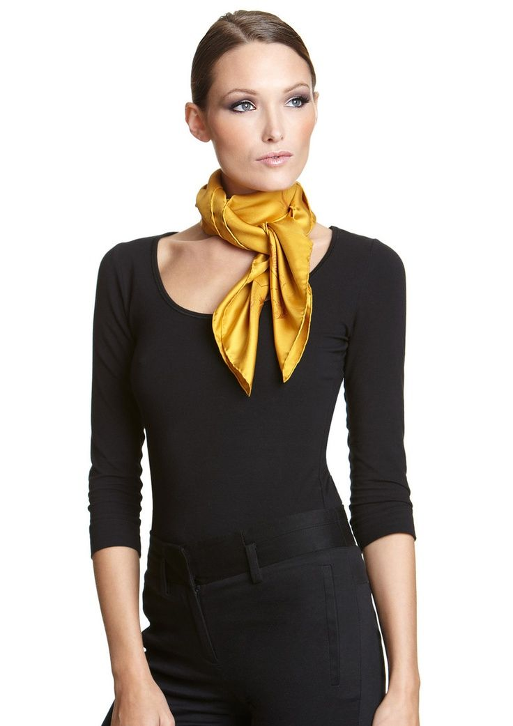 comment porter un foulard en soie style and pretty. Black Bedroom Furniture Sets. Home Design Ideas