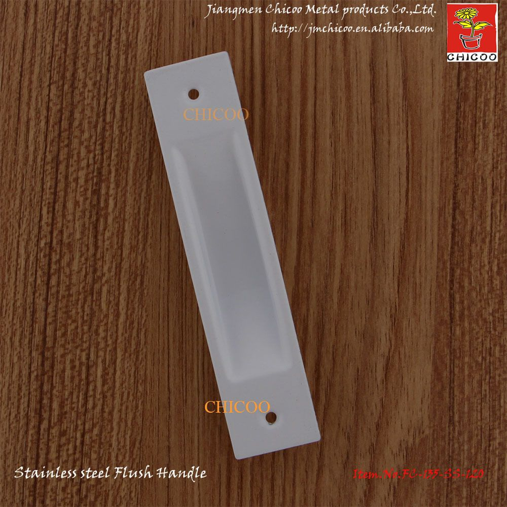 Stainless Steel Furniture Conceal Handle Flush Recessed Pull Door