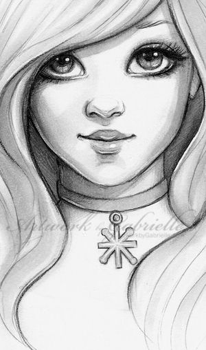 Artwork by gabrielle drawings pinterest girl face winter and face