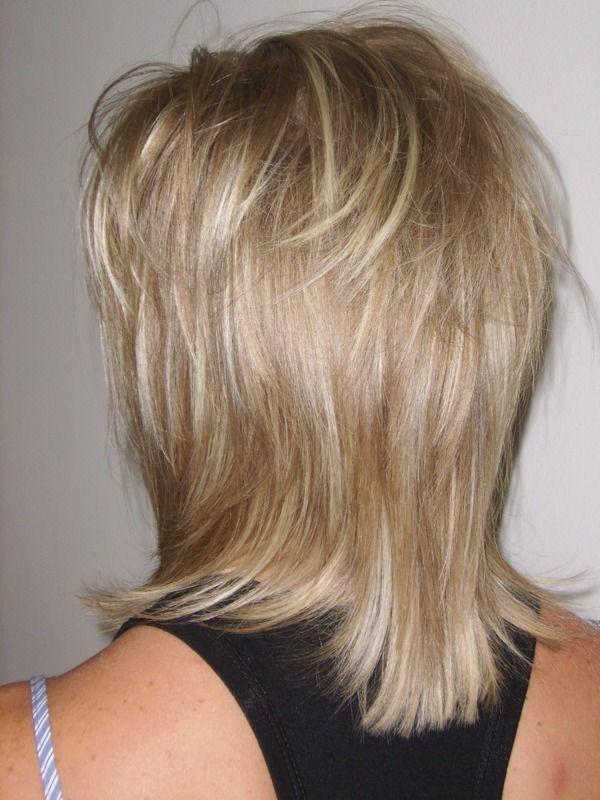 Photo de coupe de cheveux mi long degrade
