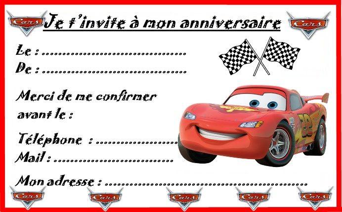 etiquettes invitations cars pour anniversaire - Anniversaire Cars