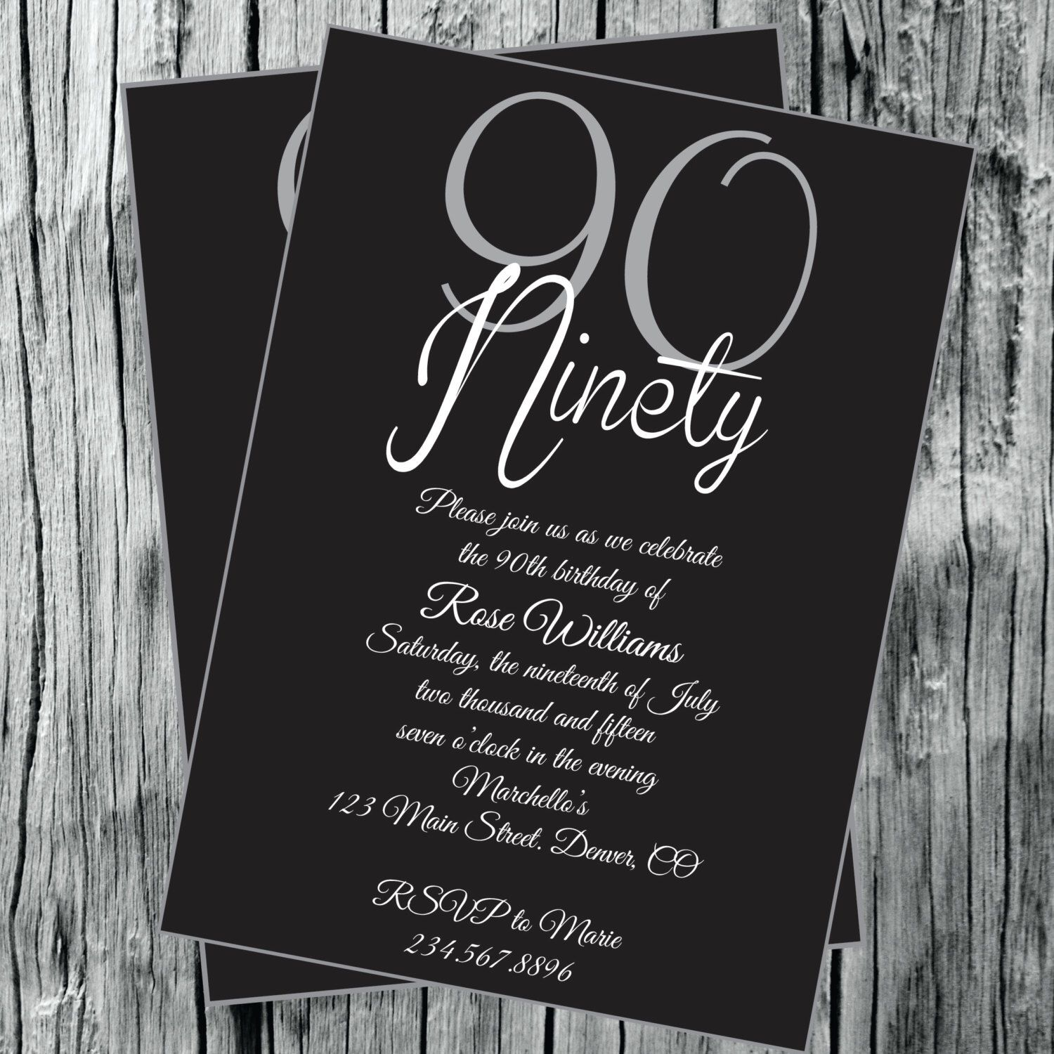 90th 80th 70th 60th birthday party invitation by 90th 80th 70th 60th birthday party invitation by elegantlysimpleinc on etsy https stopboris Gallery