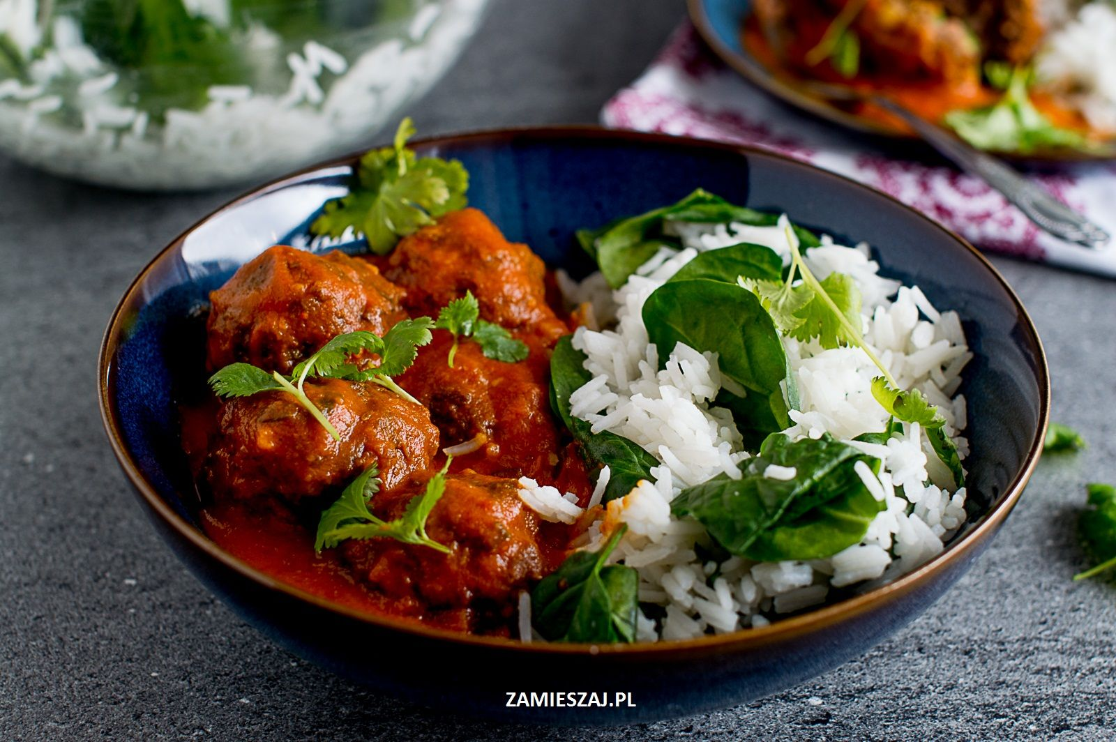 Beef kofta curry with lentil