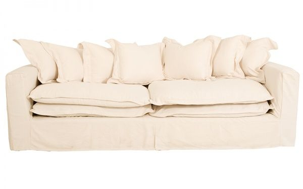 SOHO 3 SEATER LINEN FABRIC WHITE  Same as our couch, comes in diff colours