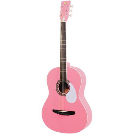 Rogue Starter Acoustic Guitar Walmart Com Pink Guitar Guitar Acoustic Guitar