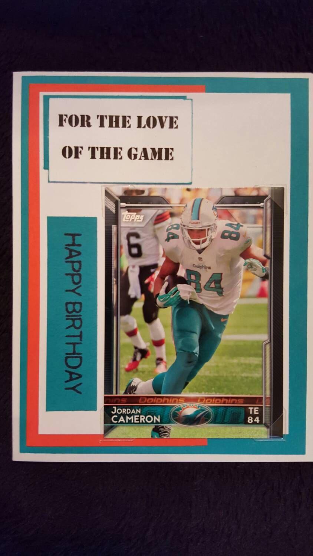 Miami Dolphins Birthday Card With Devante Parker A Detachable Birthday Cards Miami Dolphins Cards