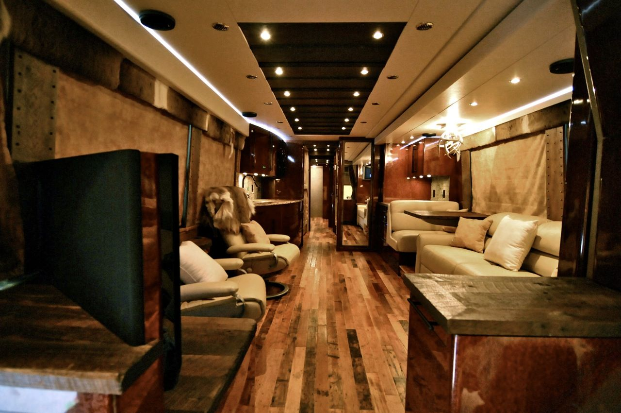 Pics For > Inside Band Tour Bus