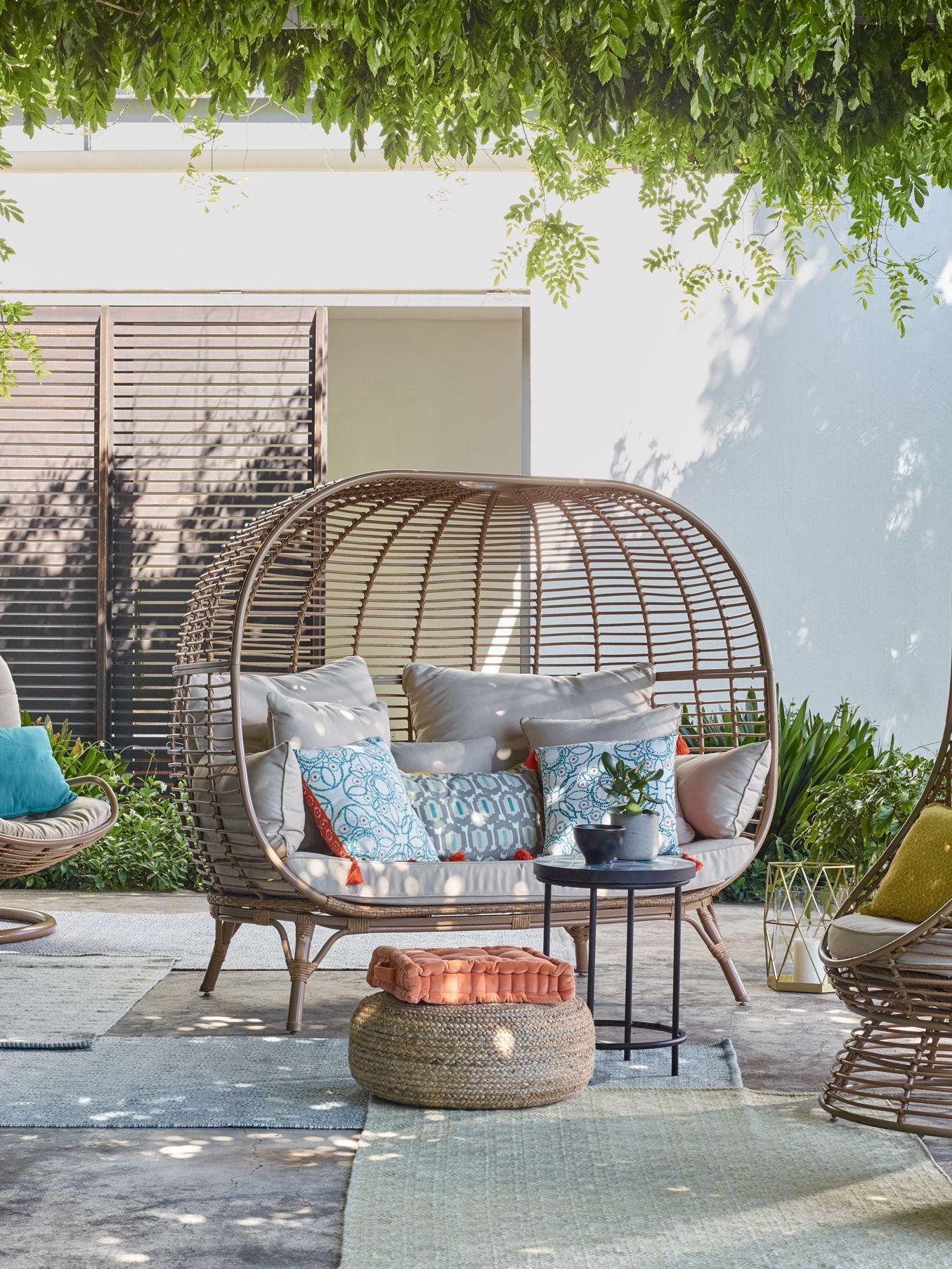 John Lewis Partners Jute Pouffe In 2020 Garden Sofa John