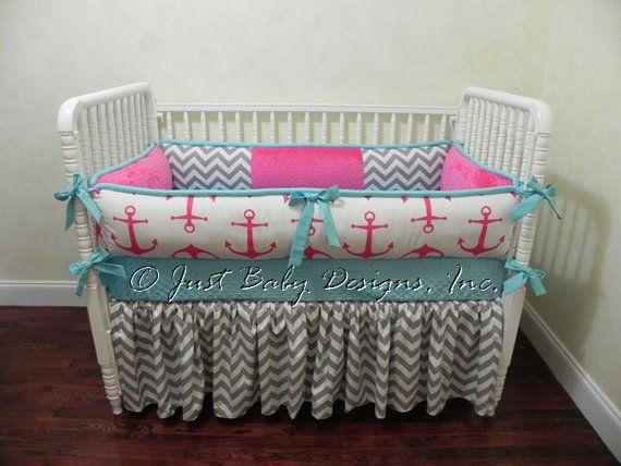 Nautical Baby Bedding Sets.Custom Nautical Baby Bedding Set Chauna Girl Baby Bedding