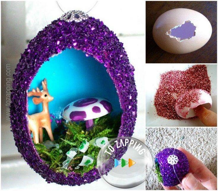 Adornos de navidad hechos con huevo decoraci n de cascaras for Adornos navidad online