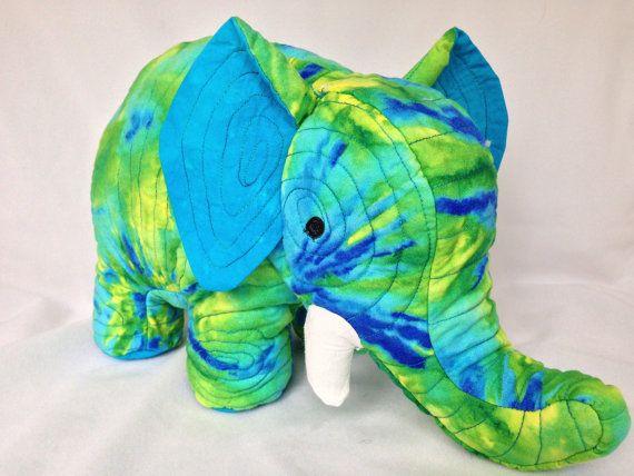 Shasta Stuffed elephant by ItsaZoo on Etsy, $40.00