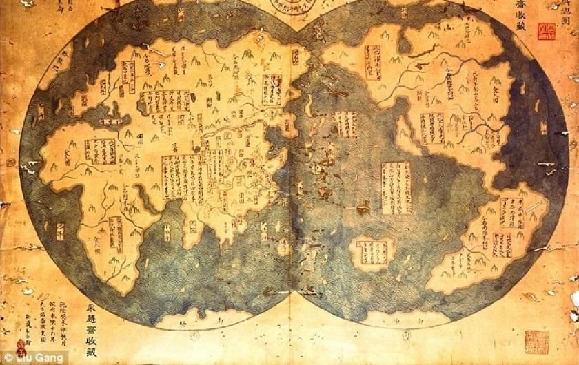 1421 chinese world map including the american continent maps on 1421 chinese world map including the american continent maps on the web photo gumiabroncs Gallery