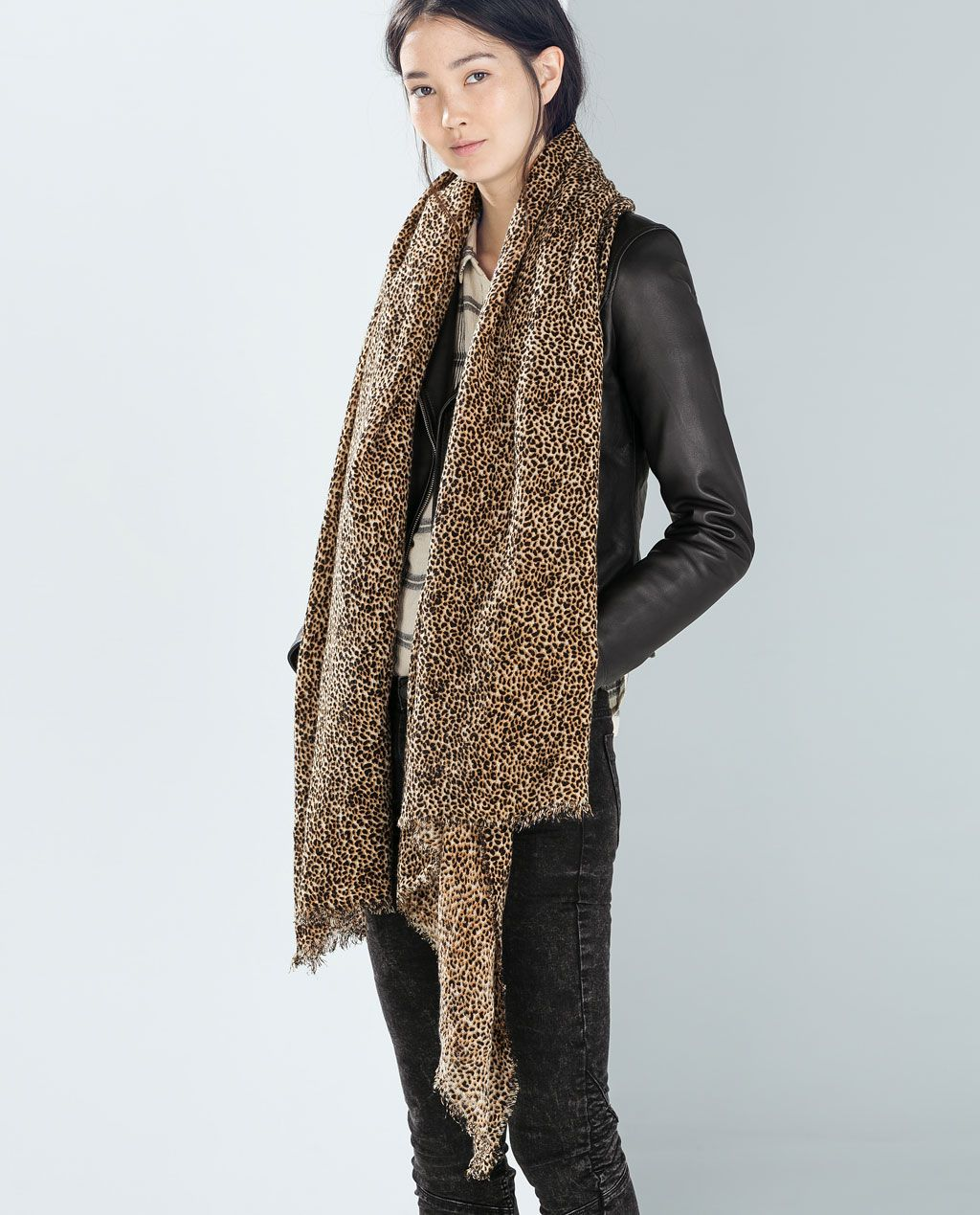 Buy Print leopard scarf zara picture trends