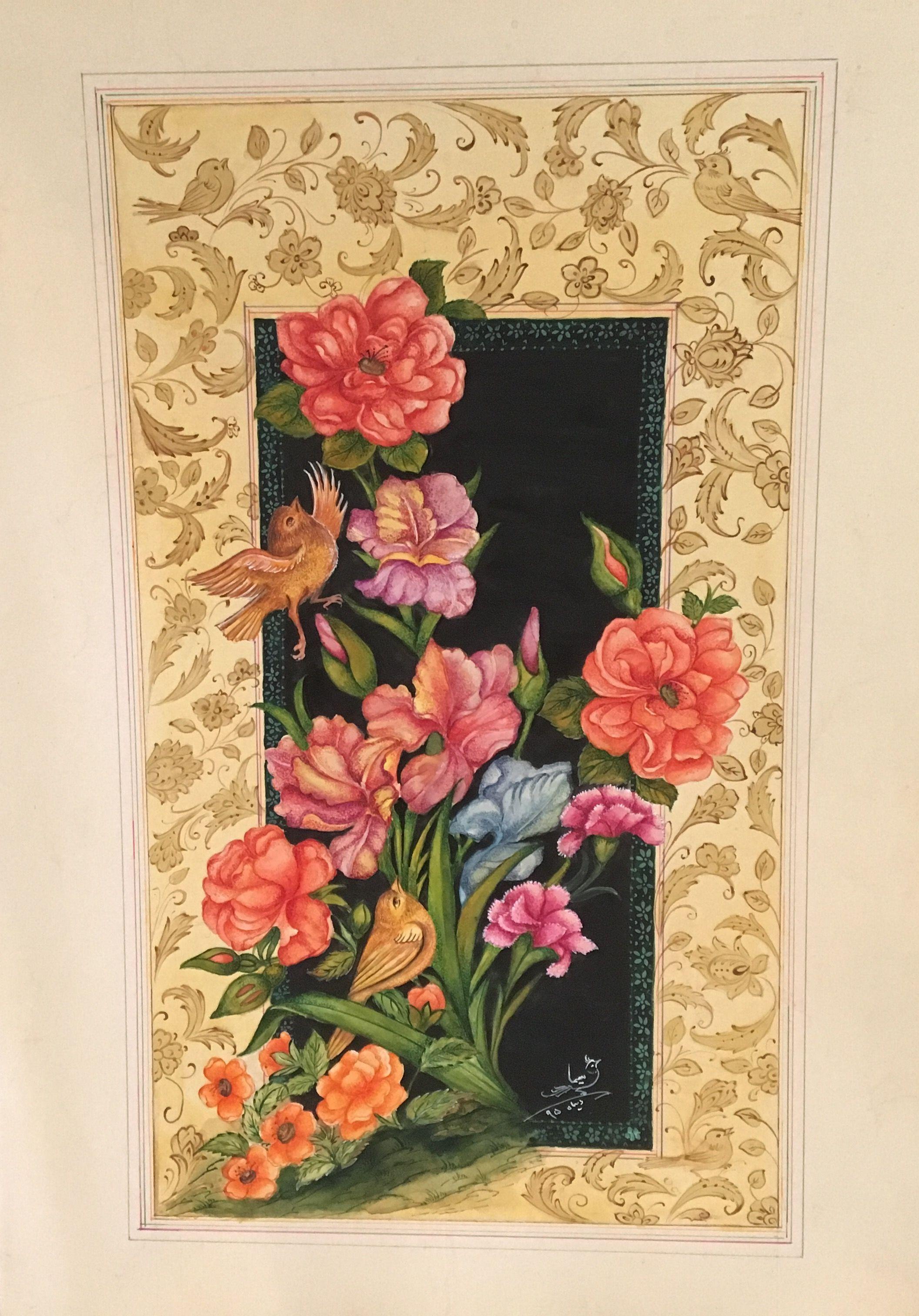 Persian( gol @ morgh) Insta: s.t.paintkadeh