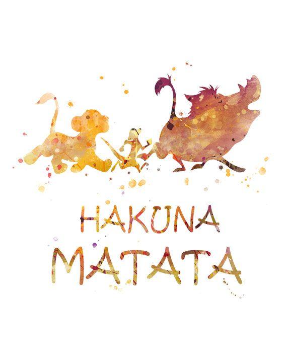 Dsiney inspired lion king poster print wall art gitf merchandise hakuna matata 2