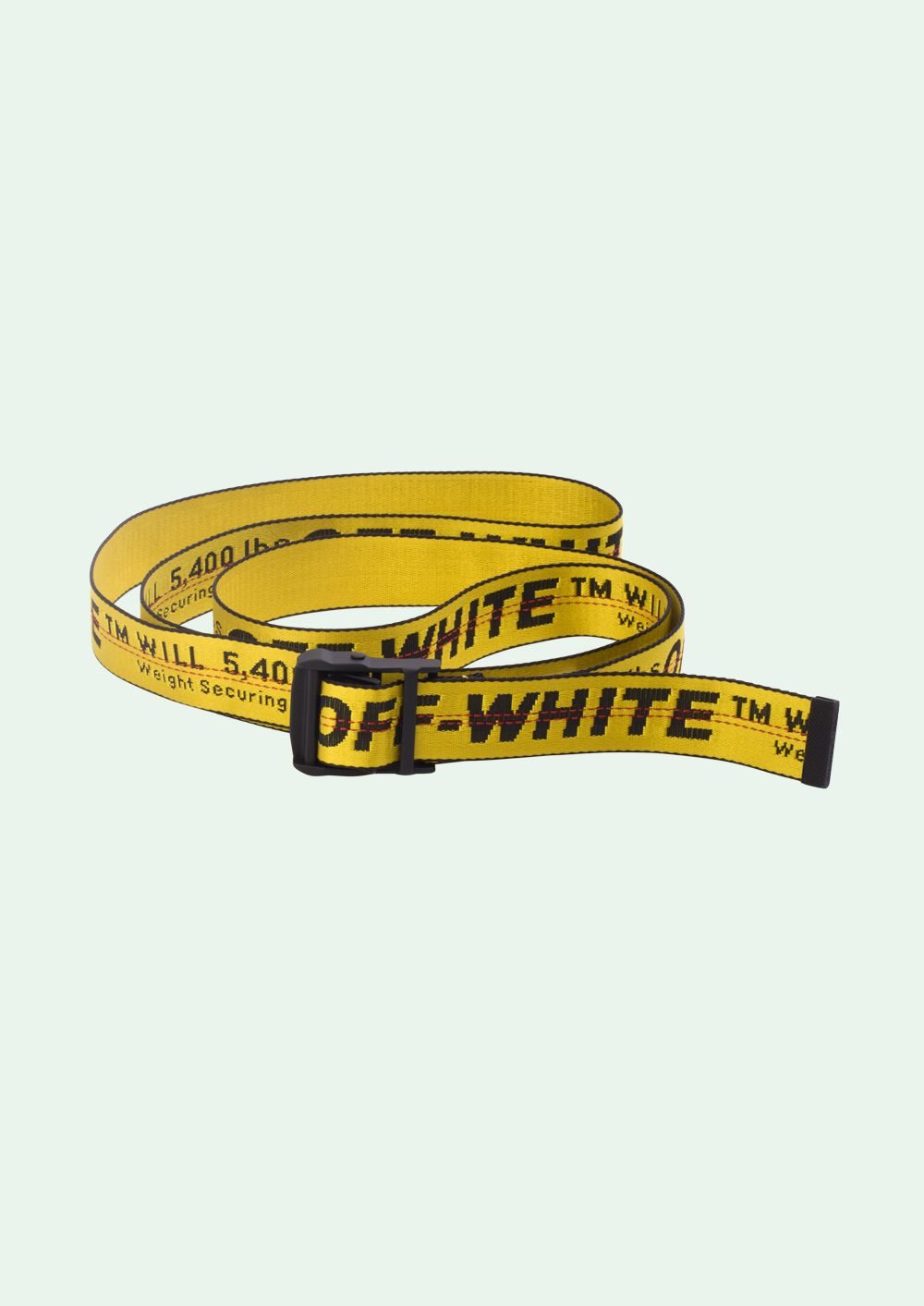 1ff1a39bd058 Yellow industrial belt with black matte buckle.