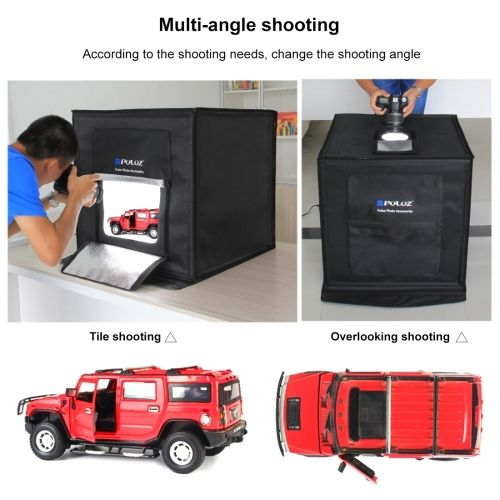 40Cm X 40Cm X 40Cm 40Cm Folding Portable 30W 5500K White Light Photo Lighting Studio Shooting Tent Box Kit with 6 Colors Backdrops Size