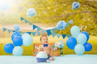 Curitiba, Kelli Homeniuk, Ensaio de bebê, 11 meses, 1 aninho, pré aniversário, bolo big Cupcake, Smash The Cake, Cake Smash, bolo , azul, menino, (41)9729-6585 ©Kelli Homeniuk - Fotografia Profissional