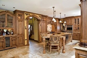 tuscan kitchen design nj - traditional - kitchen - newark - by Kuche ...