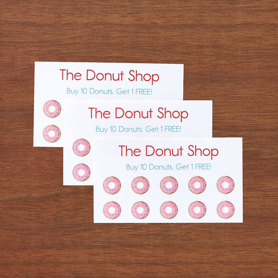 Build a loyalty program with punch cards printable