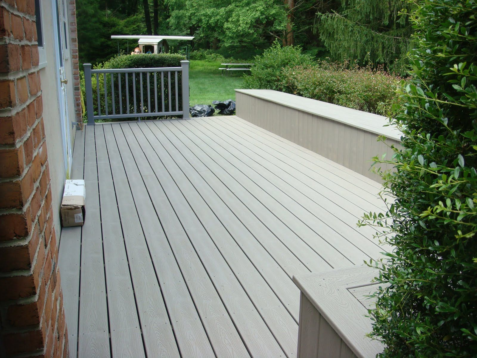classy composite decking color samples with NewTechWood Building ...