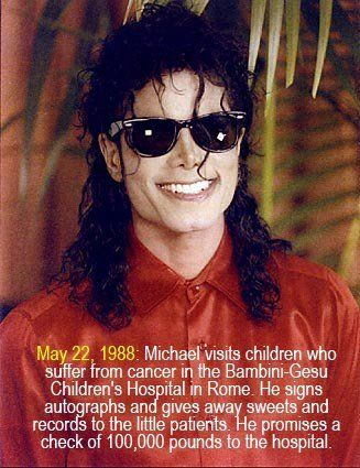Michael's Charity Work- Incredible.. This really touches me..<3