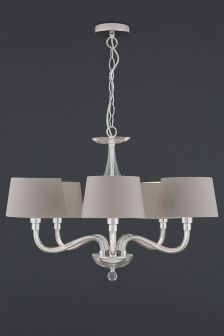 Knightsbridge 5 Light Glass Chandelier With Shades Next I Don T Know What It Is About This But I Light Fittings Living Room Ceiling Lights Chandelier Shades