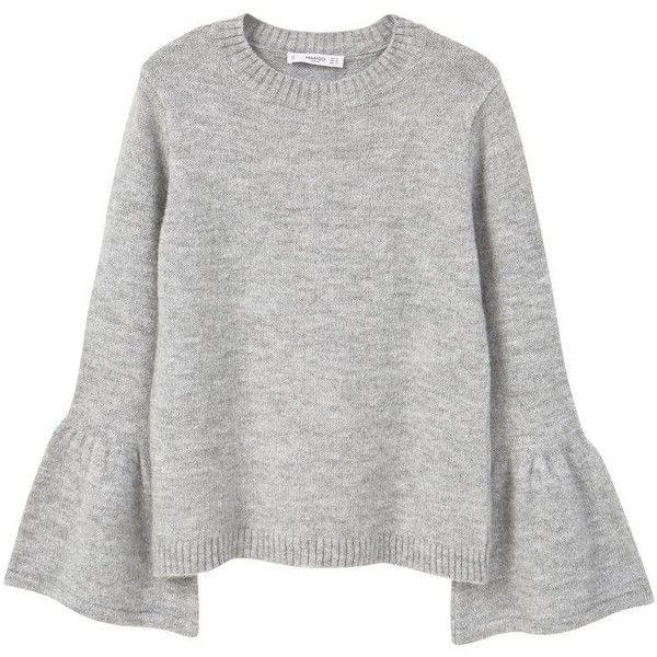 MANGO Flared Sleeves Sweater ($30) ❤ liked on Polyvore featuring tops, sweaters, shirts, jumpers, knit sweater, bell sleeve shirt, long sleeve knit sweater, jumper shirt and long sleeve sweater