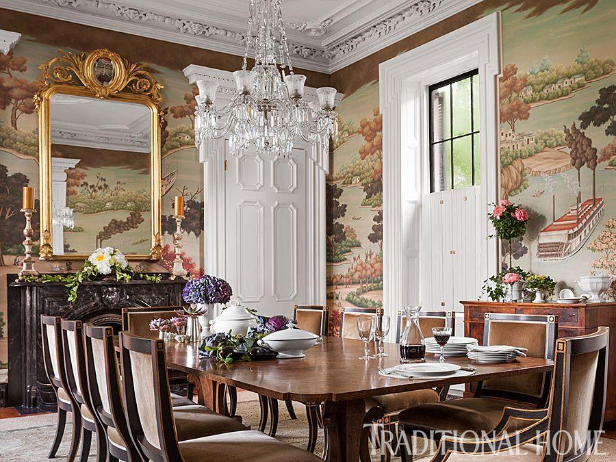 Beautiful Grand Charleston Home Dining Room Victorian Slc