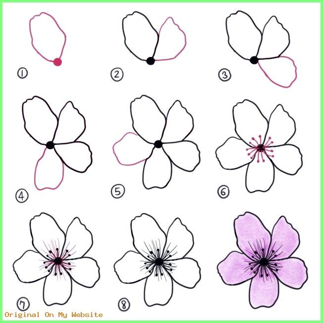 Art Drawings Tumblr   Doodles, cherryblossom tutorial ...