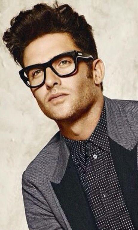 Classic Black Hipster Eyeglass Frames, Men's Fall Winter Fashion.