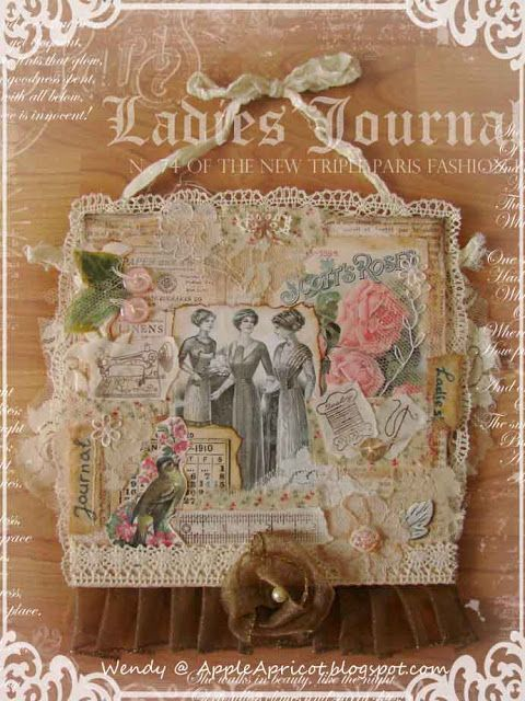 AppleApricot: Ladies' Journal - vintage collage