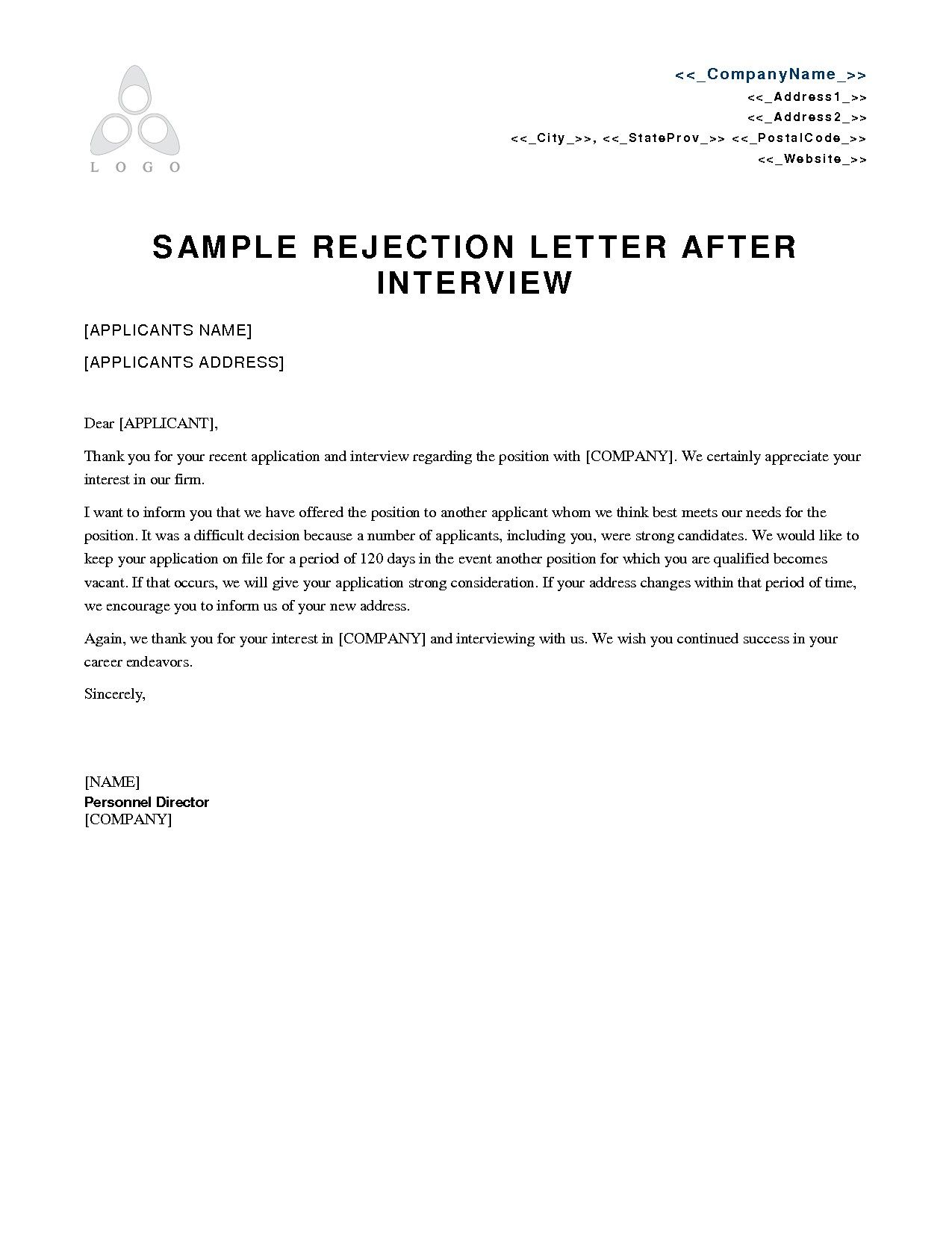 download new job rejection thank you letter sample at best resume format in word food and beverage cv machine learning fresher
