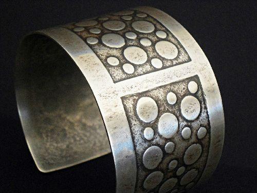 Cuff | Laura Bouton ~LjBjewelry.  Textured sterling silver
