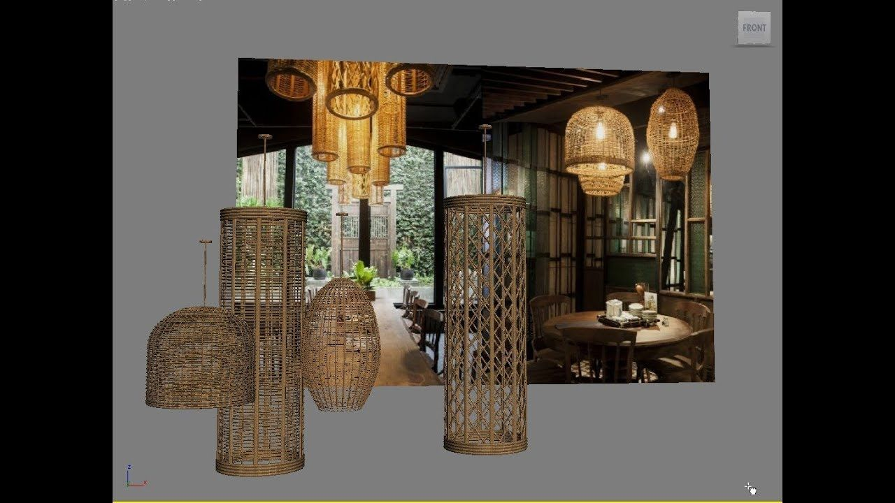 3ds Max Basic Modeling Rattan Celling Lamp 3ds Max 3ds Max Tutorials 3d Model