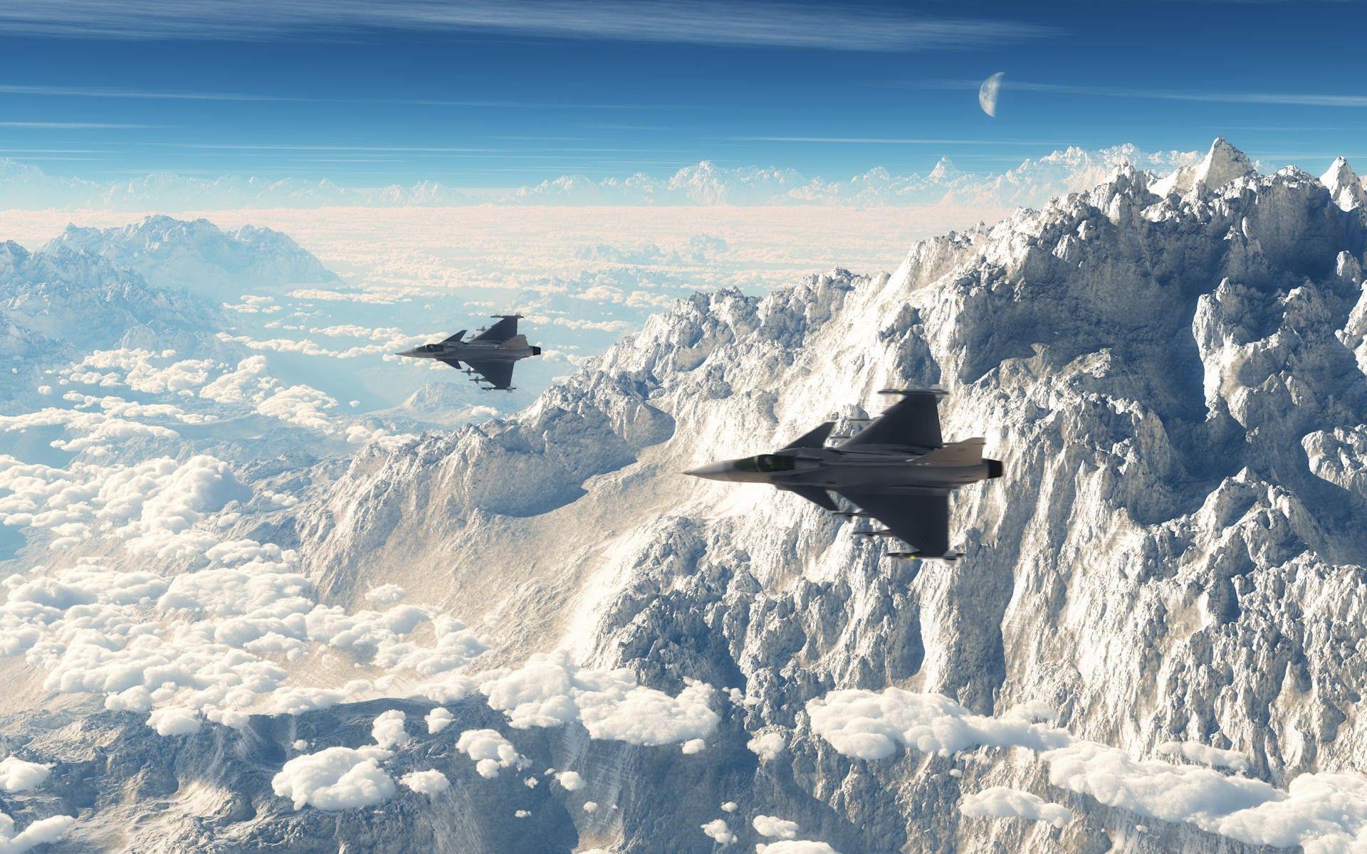 aviones volando sobre montañas hd 1920x1200 - imagenes - wallpapers