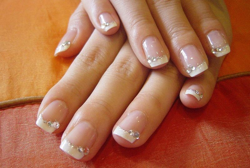 Classic french manicure with shellac nail polish nails classic french manicure with shellac nail polish prinsesfo Choice Image