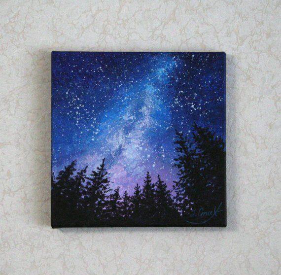 Milky Way Painting Starry Night Art Sky Paintings On Canvas Galaxy Artwork Original Celestial... Milky Way Painting Starry Night Art Sky Paintings On Canvas Galaxy Artwork Original Celestial Art Space Wall Decor,