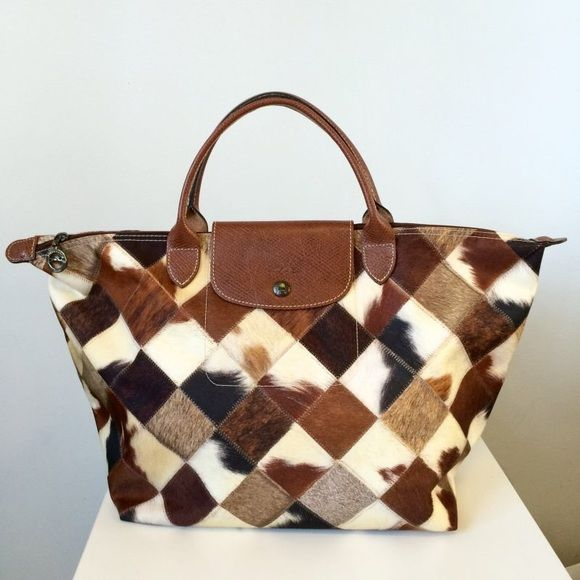 d0a1498d172d Longchamp Le Pliage Medium Pony Animal Print Tote In excellent condition. Only  used a few