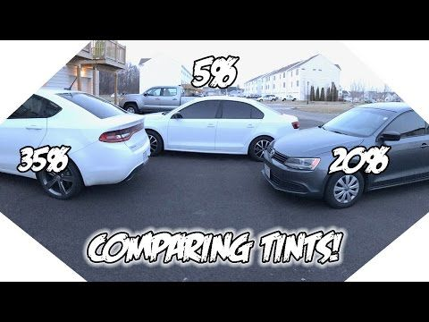35 Vs 20 Vs 5 Window Tint What Tint Is Best For You Youtube
